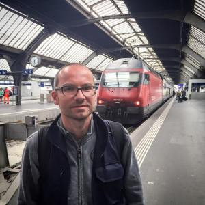 """""""I am the driver of this train. We just arrived here in Zurich, coming from Geneva. This is my favourite route. The view from the train onto the lake in Geneva is amazing. I have a break now and will go back in two hours."""""""