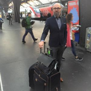 """I am Austrian and on my way from Geneva to Vienna. I have apartments in both cities and would normally take a flight for this route. But I have so much luggage that I decided to take the night train this time."""